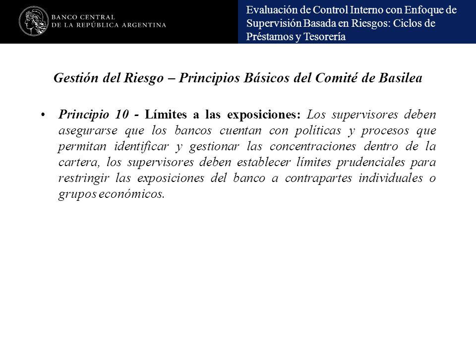 Gestión del Riesgo – Principios Básicos del Comité de Basilea