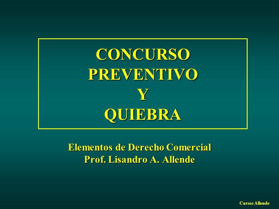 CONCURSO PREVENTIVO Y QUIEBRA