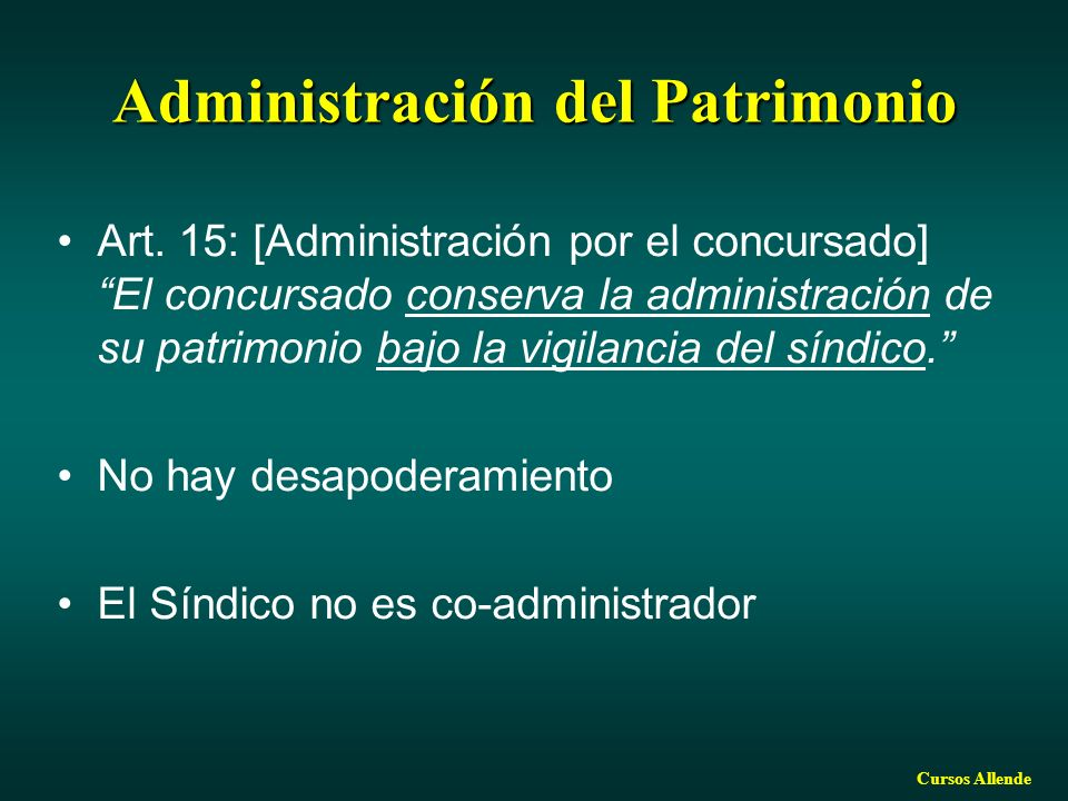 Administración del Patrimonio