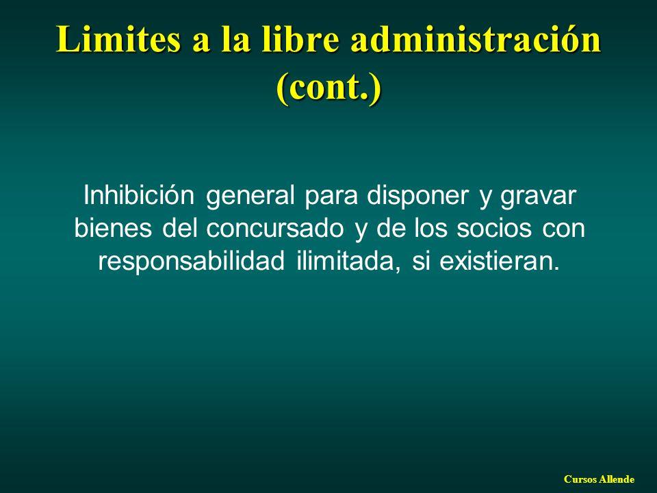 Limites a la libre administración (cont.)