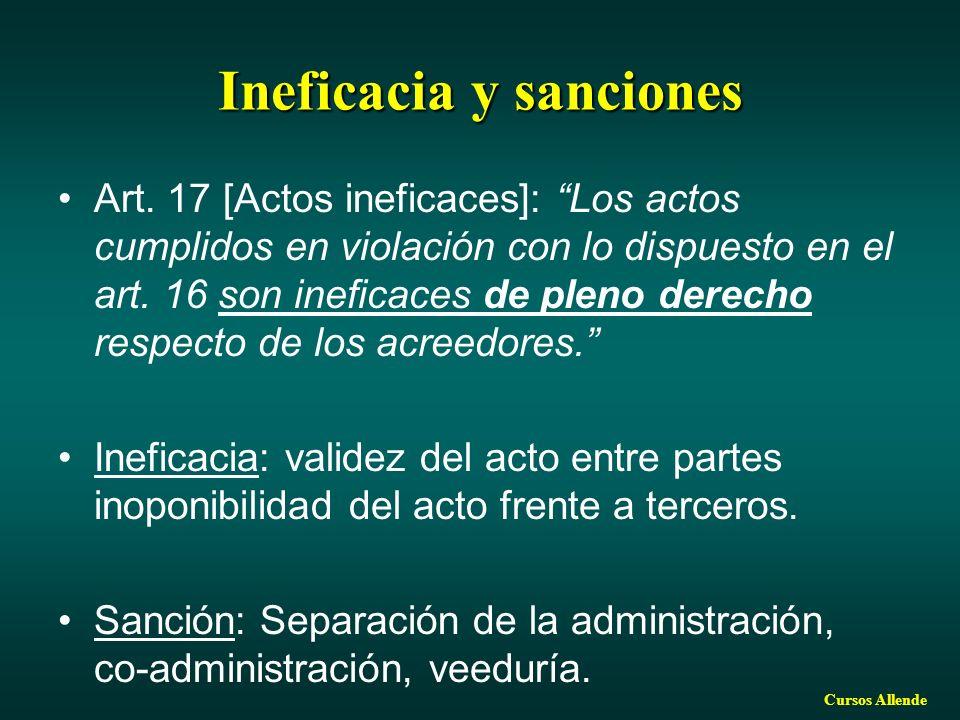 Ineficacia y sanciones