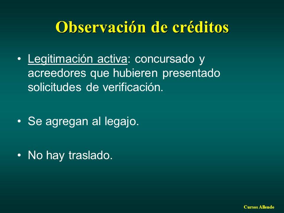 Observación de créditos