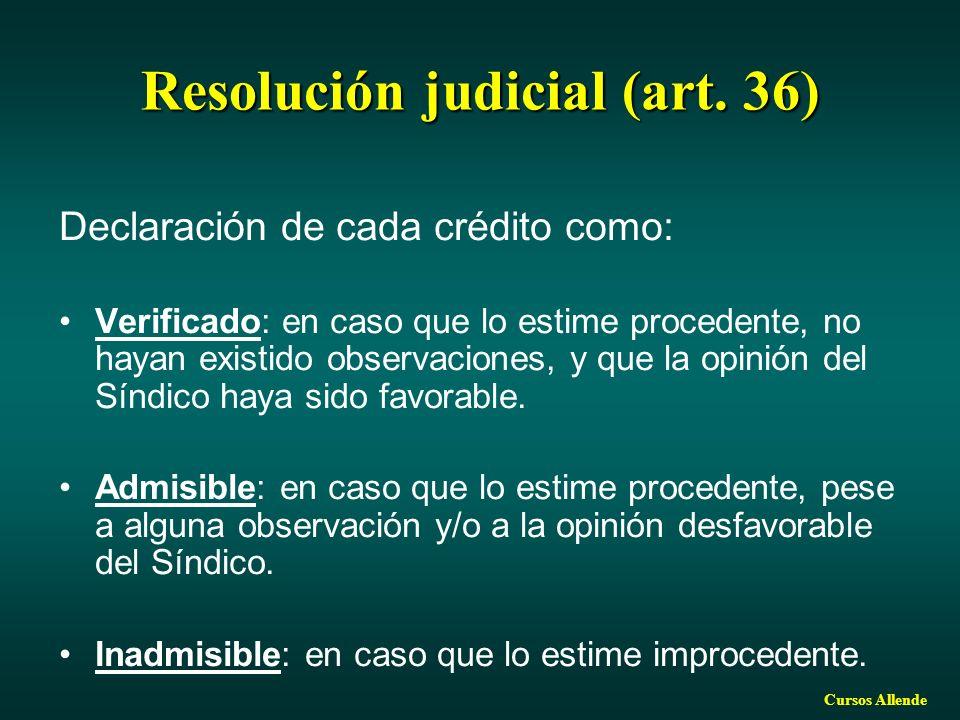 Resolución judicial (art. 36)