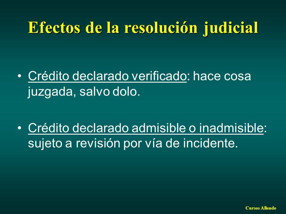 Efectos de la resolución judicial
