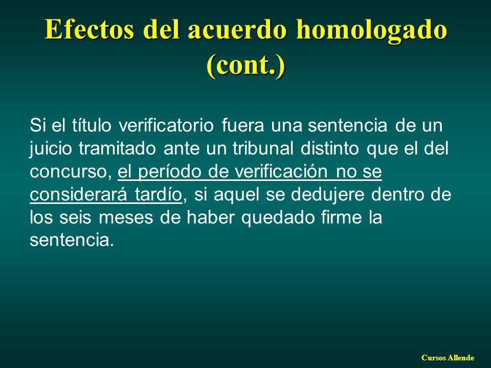 Efectos del acuerdo homologado (cont.)