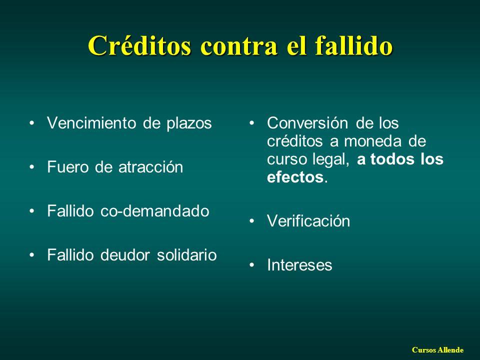 Créditos contra el fallido