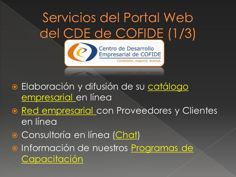 Elaboración y difusión de su catálogo empresarial en línea
