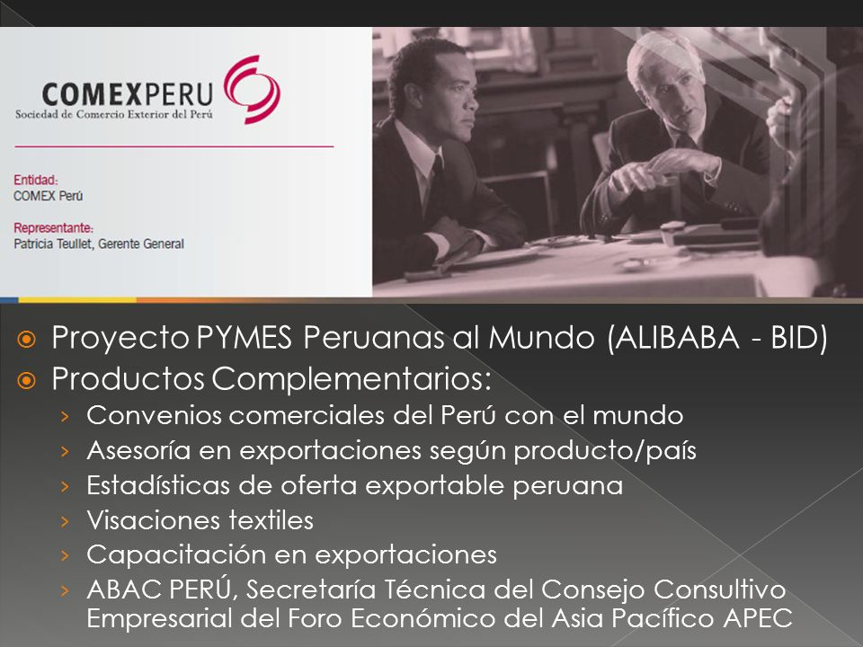 Proyecto PYMES Peruanas al Mundo (ALIBABA - BID)