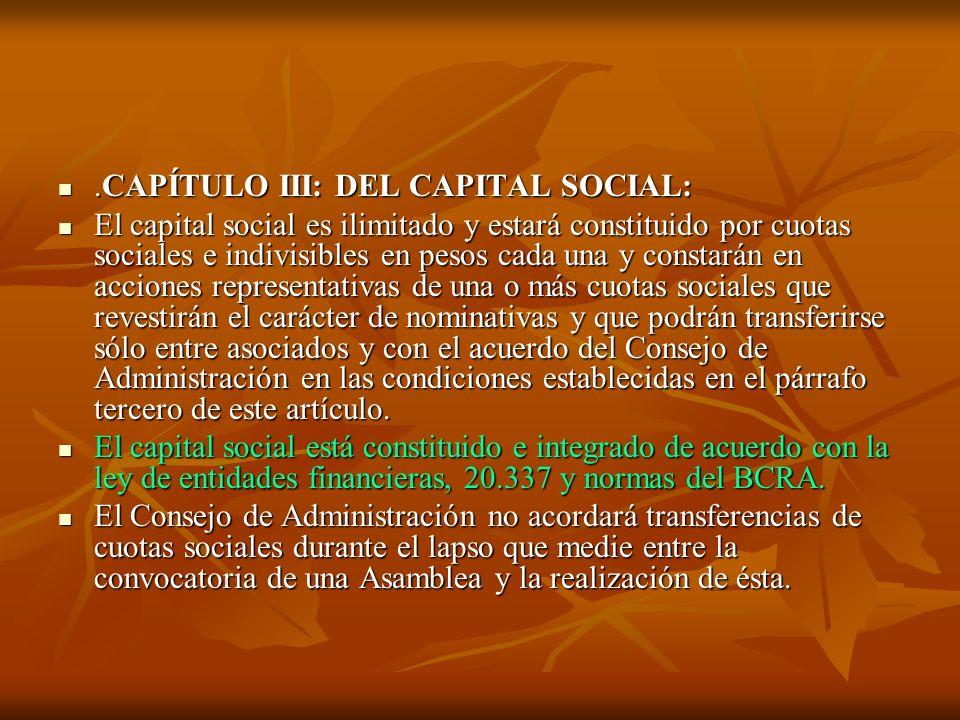 .CAPÍTULO III: DEL CAPITAL SOCIAL: