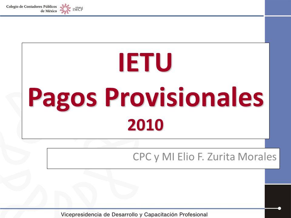 IETU Pagos Provisionales 2010