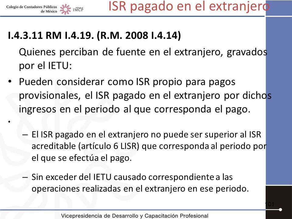 ISR pagado en el extranjero