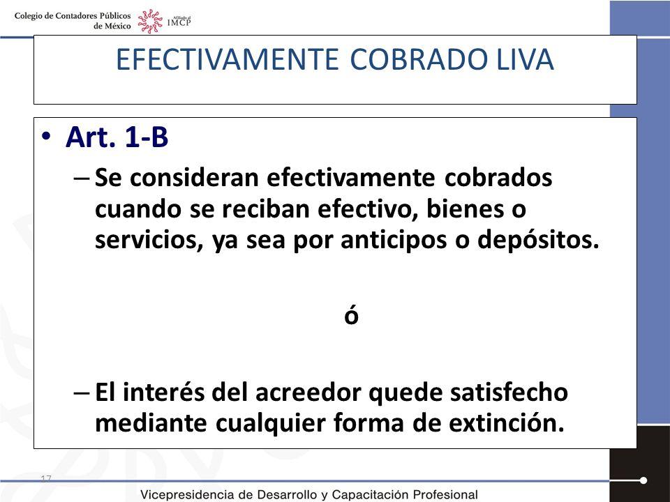 EFECTIVAMENTE COBRADO LIVA