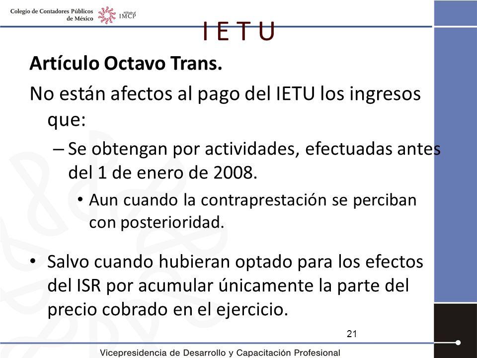 I E T U Artículo Octavo Trans.