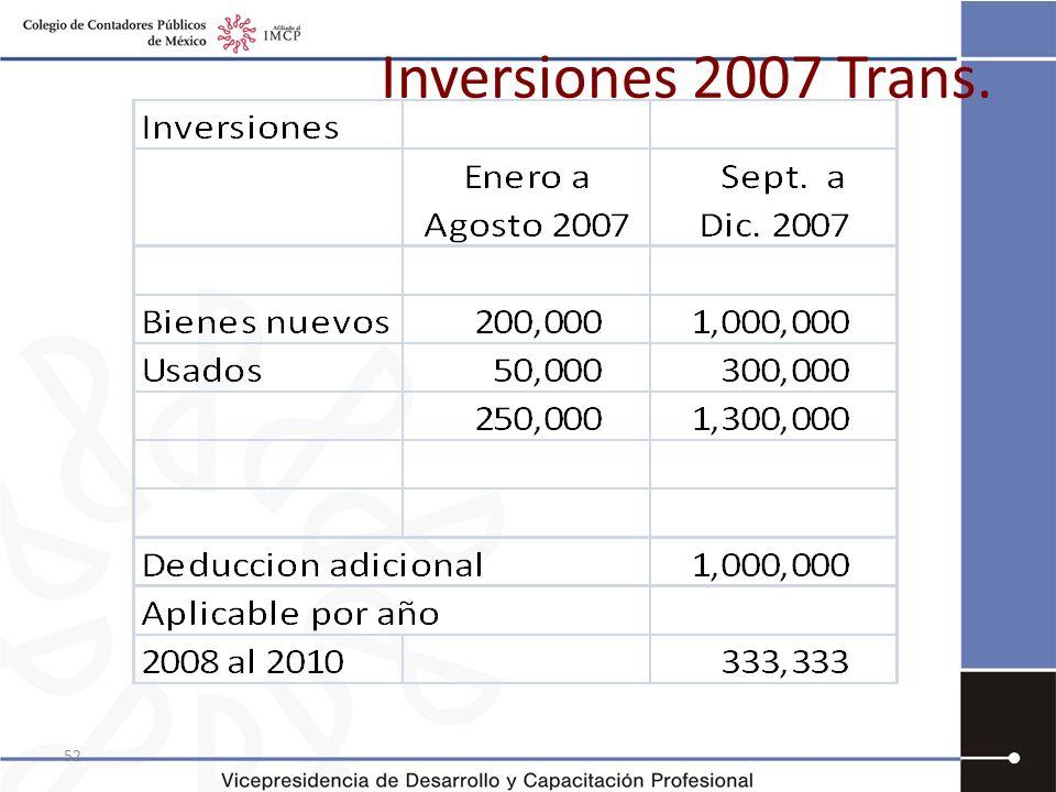 Inversiones 2007 Trans.