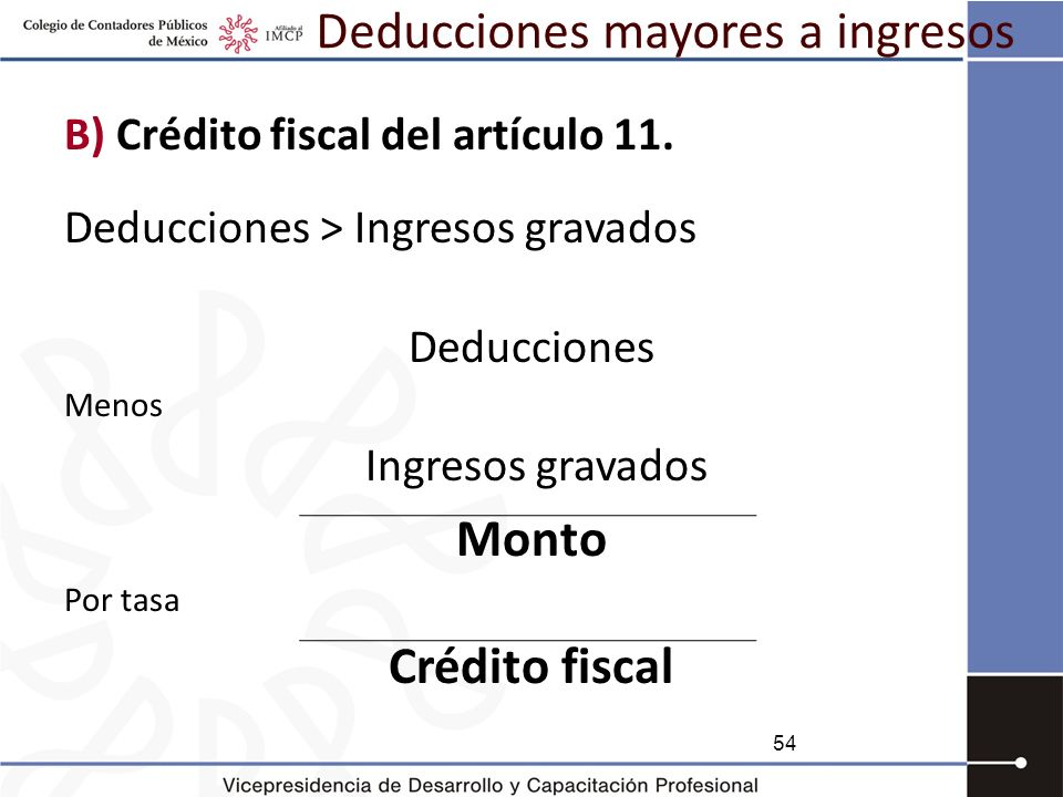 Deducciones mayores a ingresos