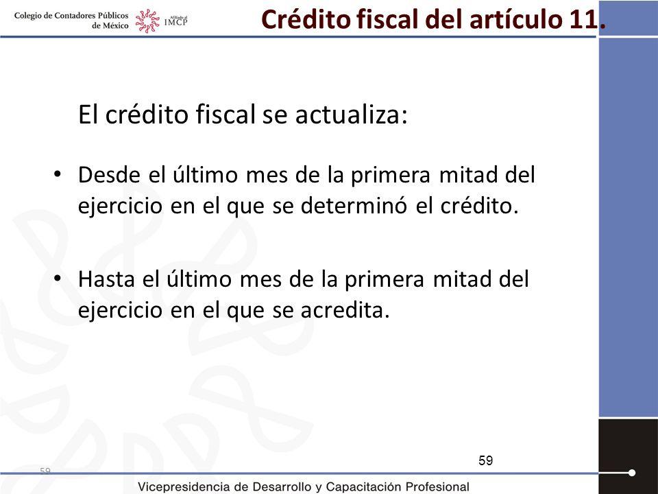 Crédito fiscal del artículo 11.