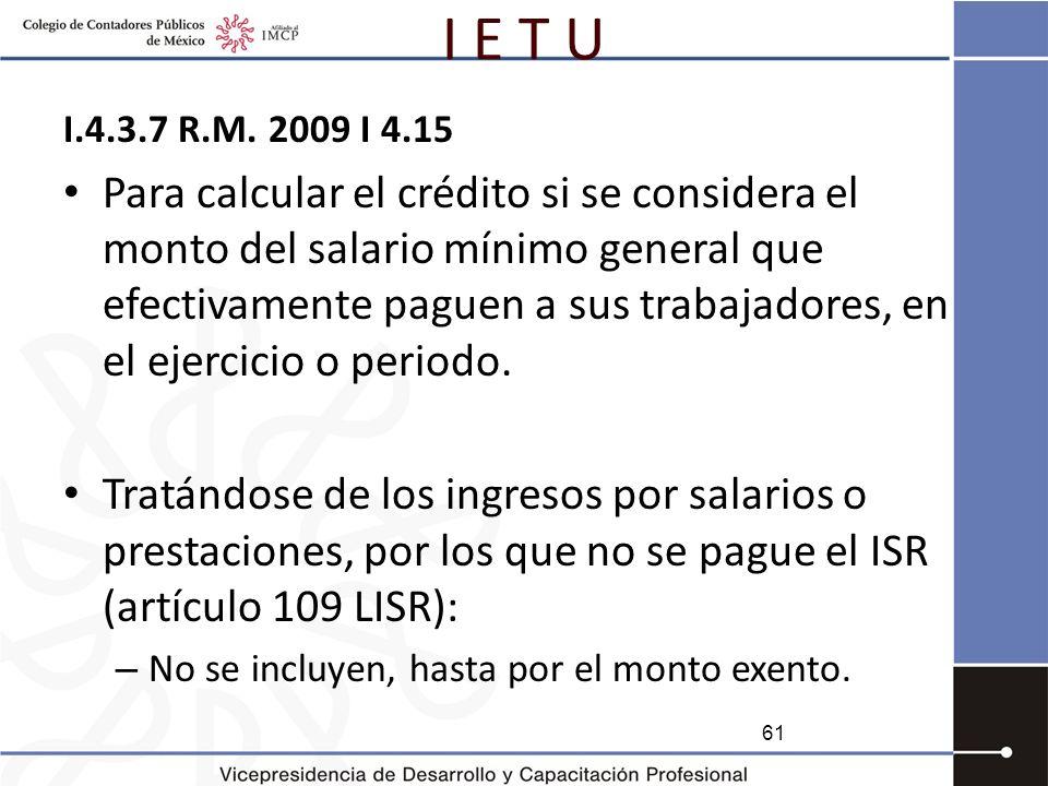 I E T U I.4.3.7 R.M. 2009 I 4.15.