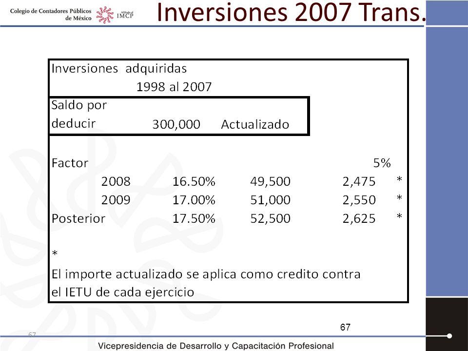 Inversiones 2007 Trans. 67 67