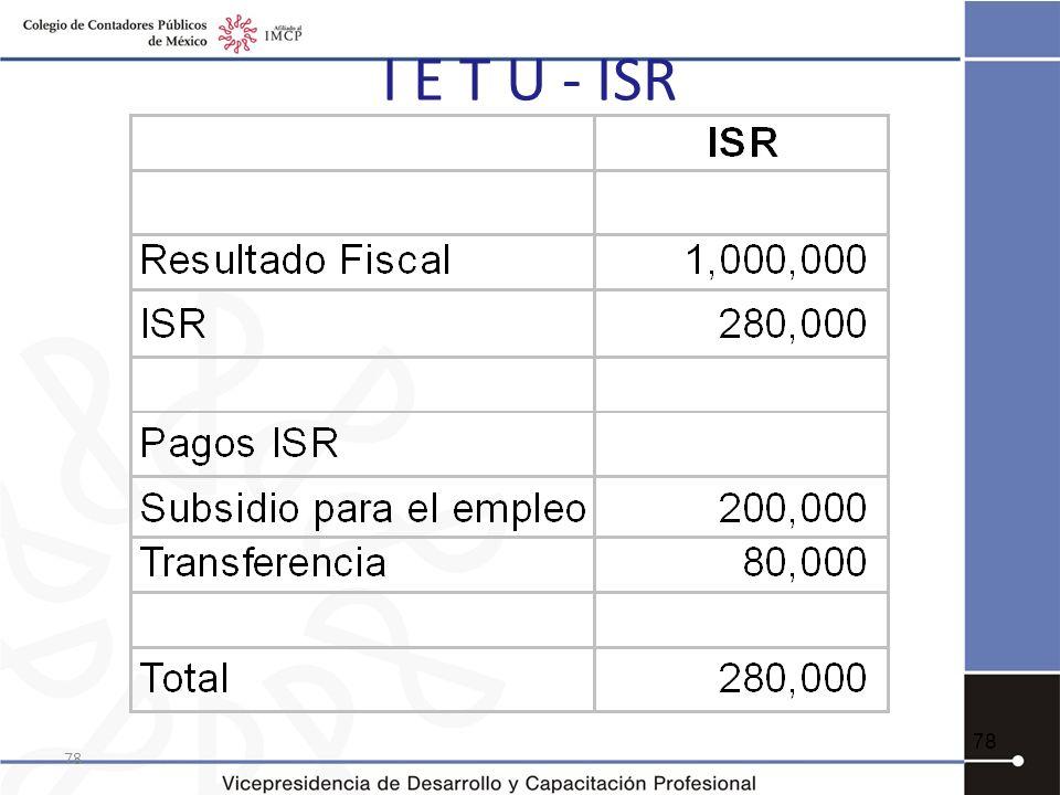 I E T U - ISR 78 78