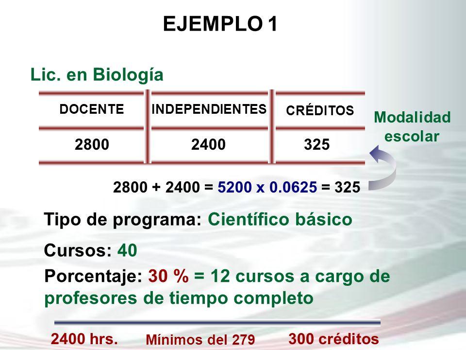 Tipo de programa: Científico básico