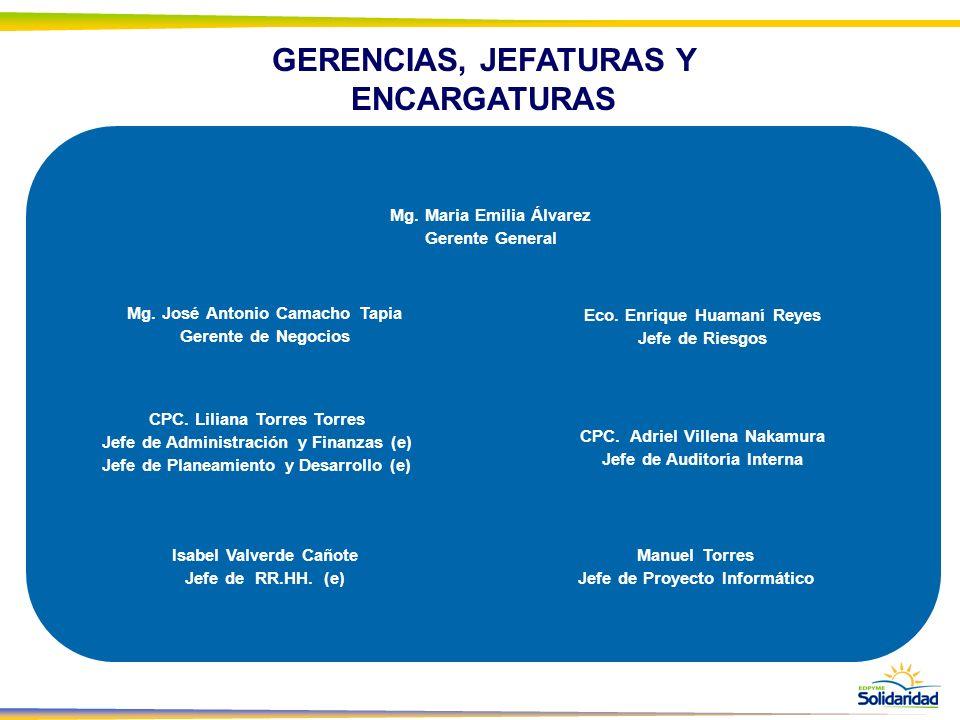 GERENCIAS, JEFATURAS Y ENCARGATURAS