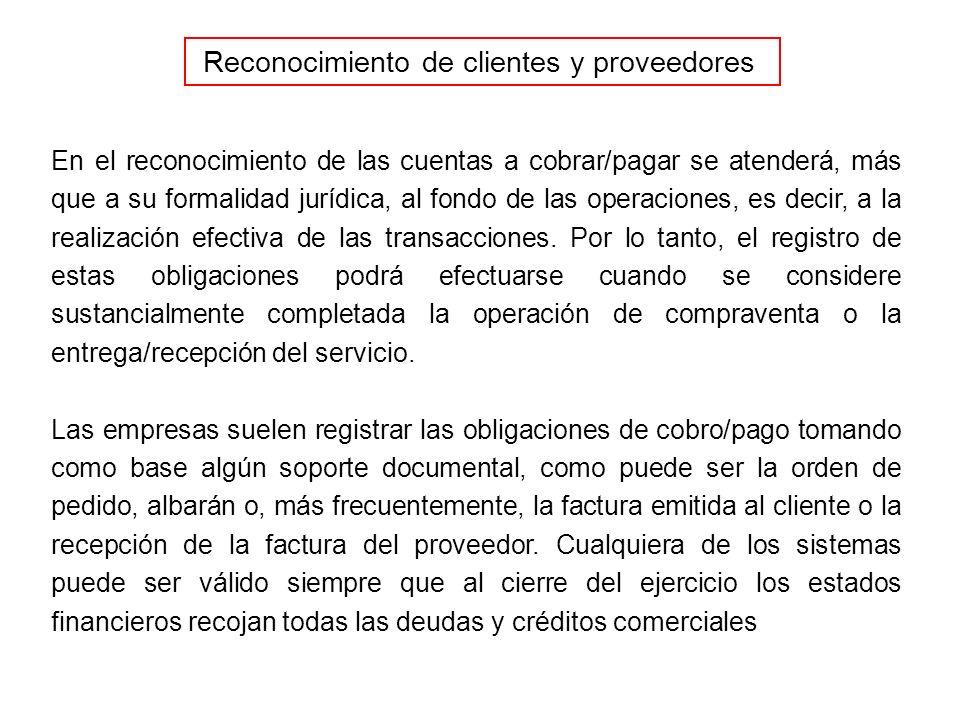 Reconocimiento de clientes y proveedores