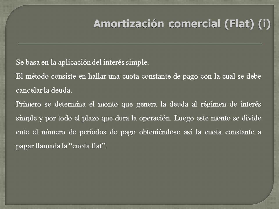 Amortización comercial (Flat) (i)