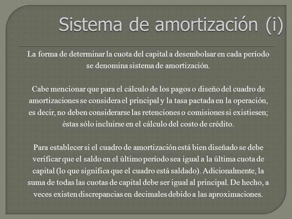 Sistema de amortización (i)