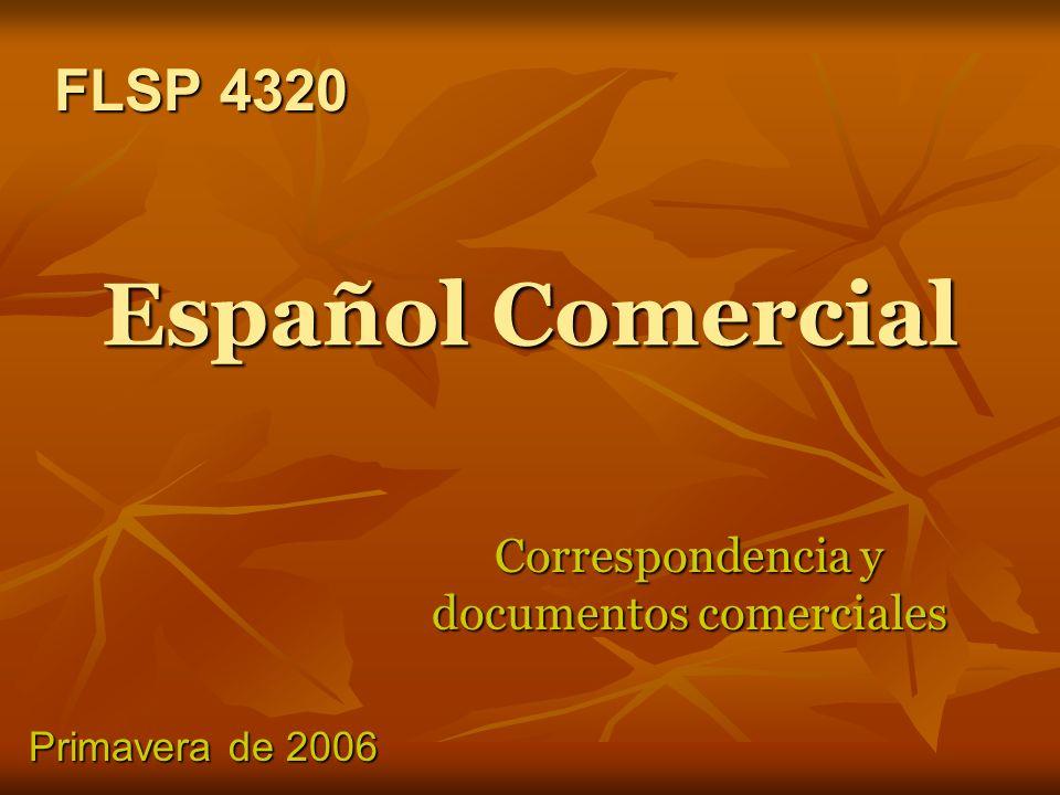 Correspondencia y documentos comerciales