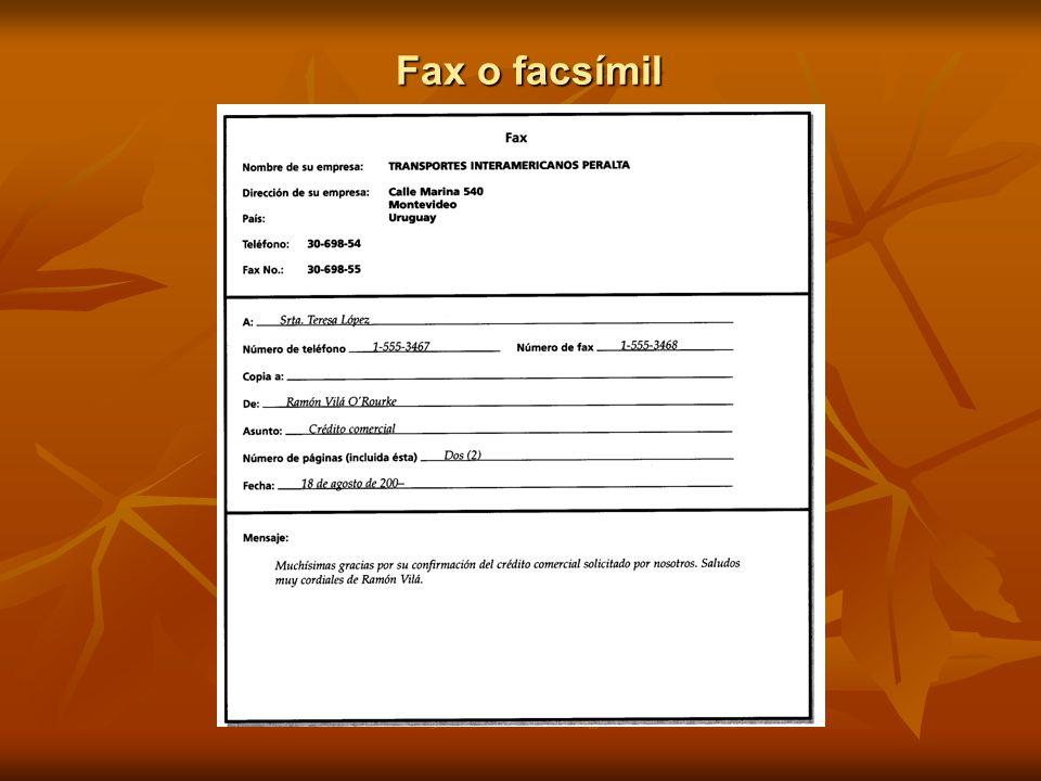 Fax o facsímil