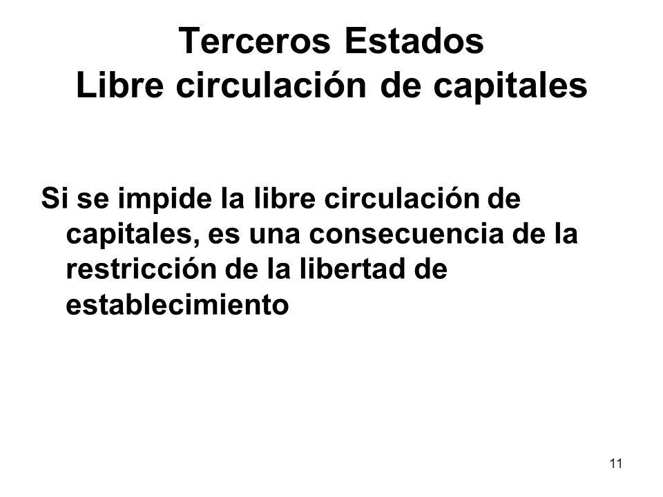 Terceros Estados Libre circulación de capitales