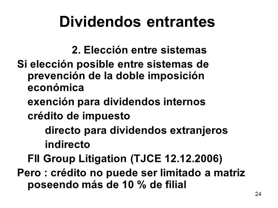 2. Elección entre sistemas