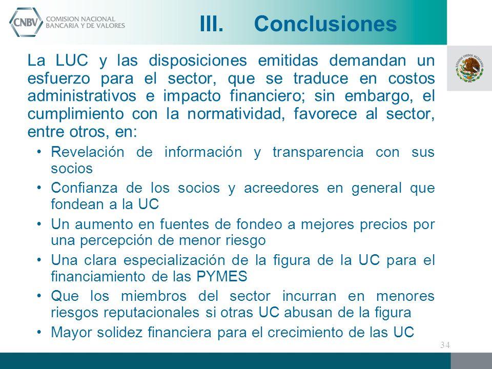 III. Conclusiones