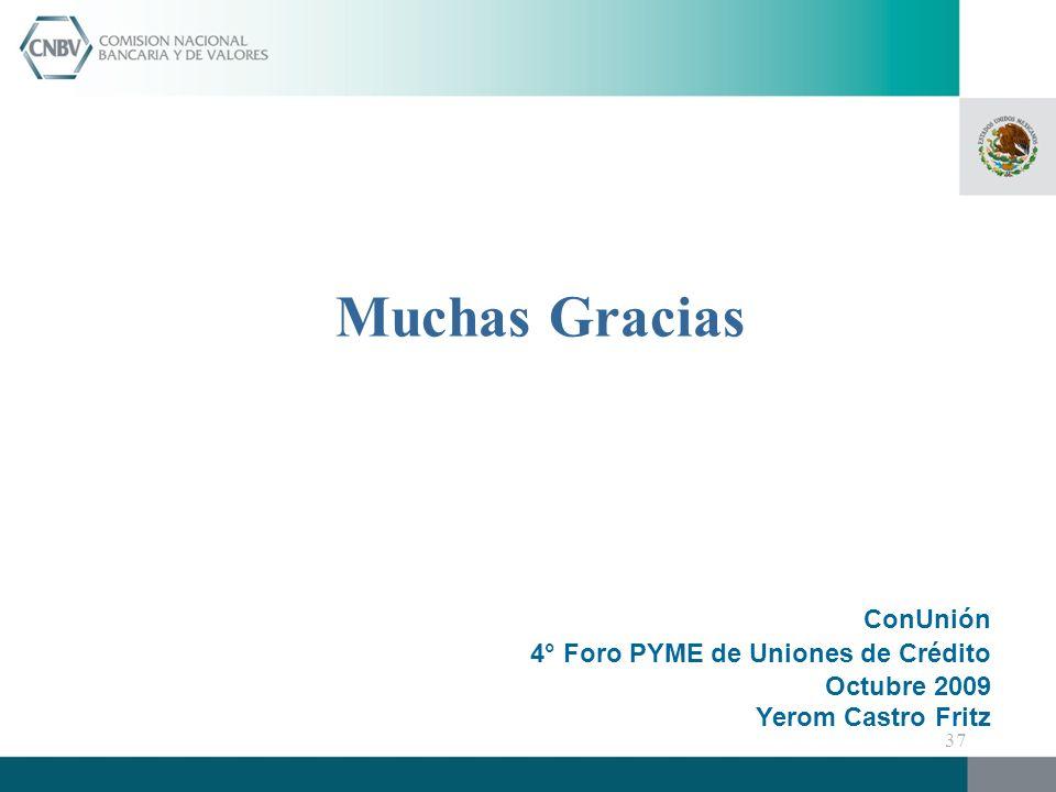 Muchas Gracias ConUnión 4° Foro PYME de Uniones de Crédito