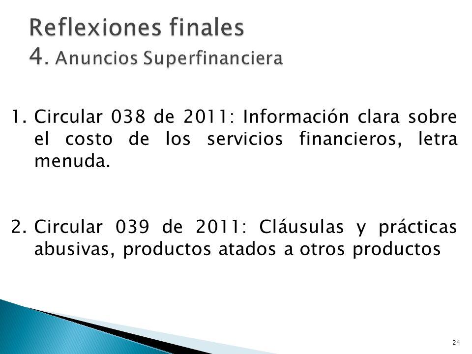Reflexiones finales 4. Anuncios Superfinanciera