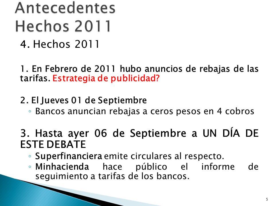Antecedentes Hechos 2011 4. Hechos 2011
