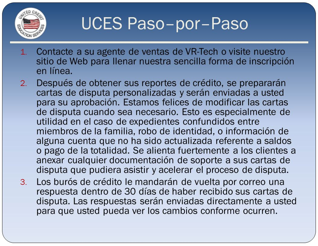 UCES Paso–por–Paso