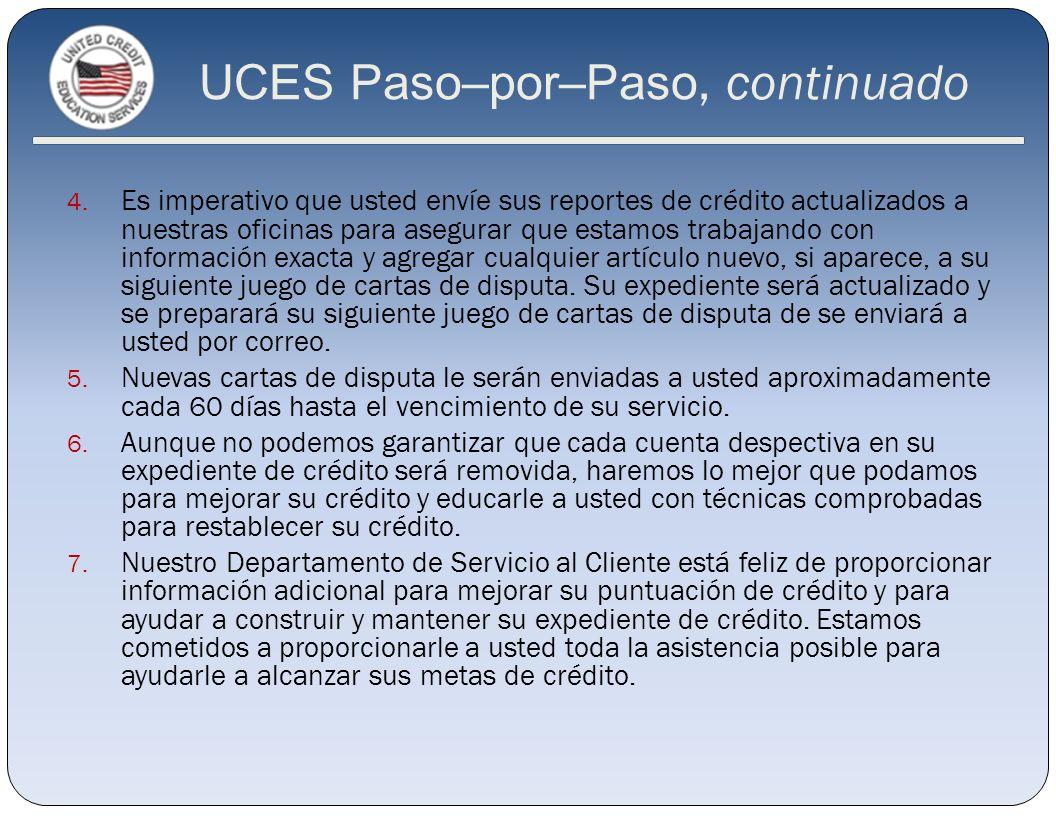 UCES Paso–por–Paso, continuado