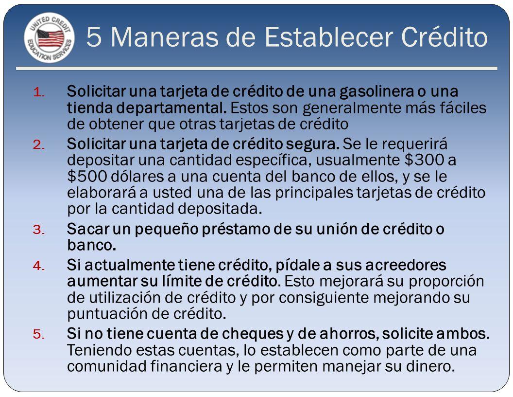 5 Maneras de Establecer Crédito