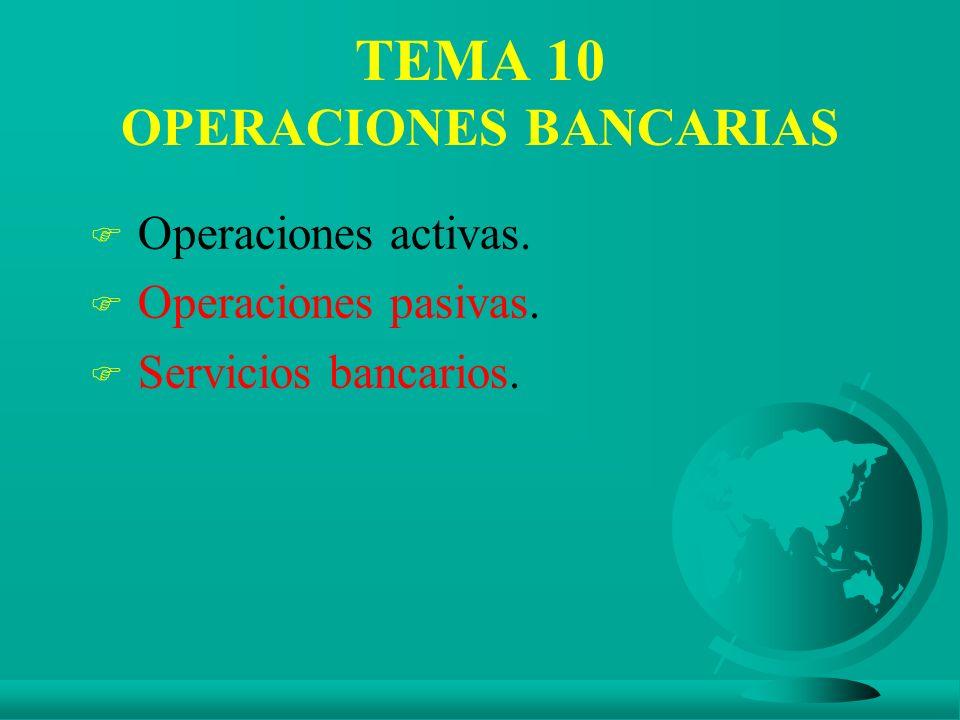 TEMA 10 OPERACIONES BANCARIAS