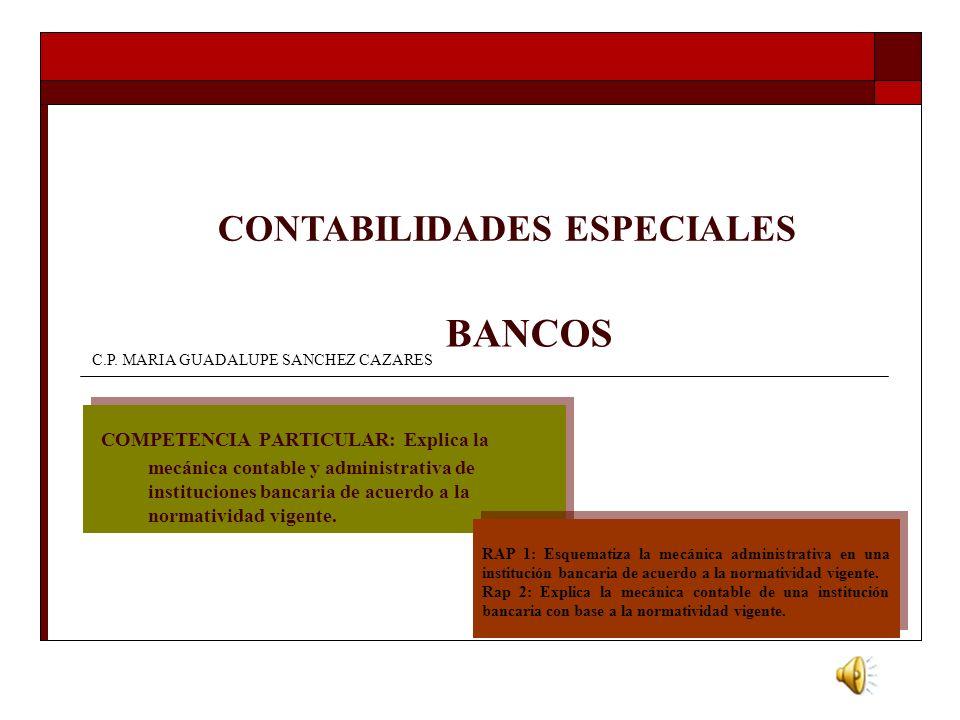 CONTABILIDADES ESPECIALES