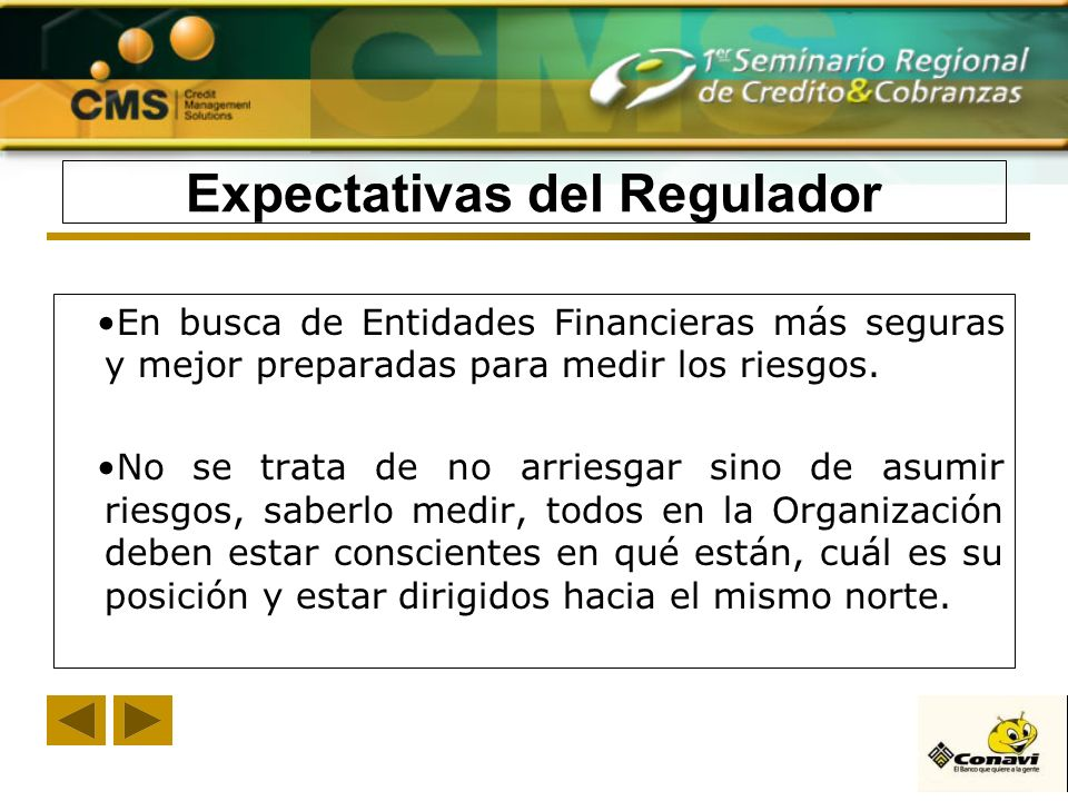Expectativas del Regulador