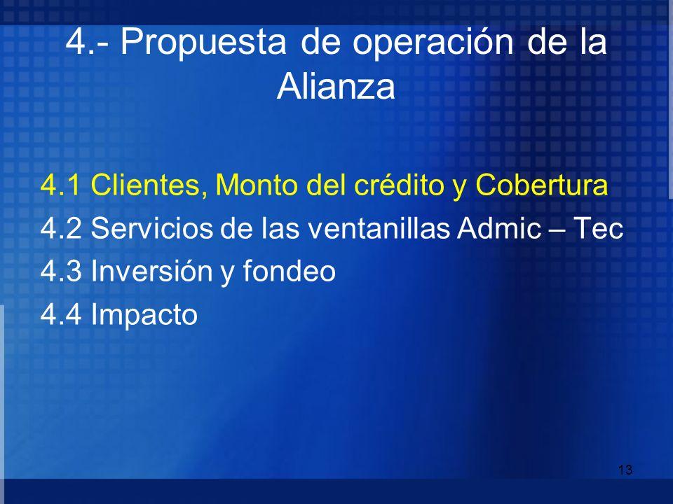 4.- Propuesta de operación de la Alianza