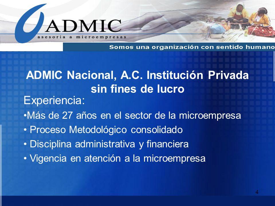 ADMIC Nacional, A.C. Institución Privada sin fines de lucro