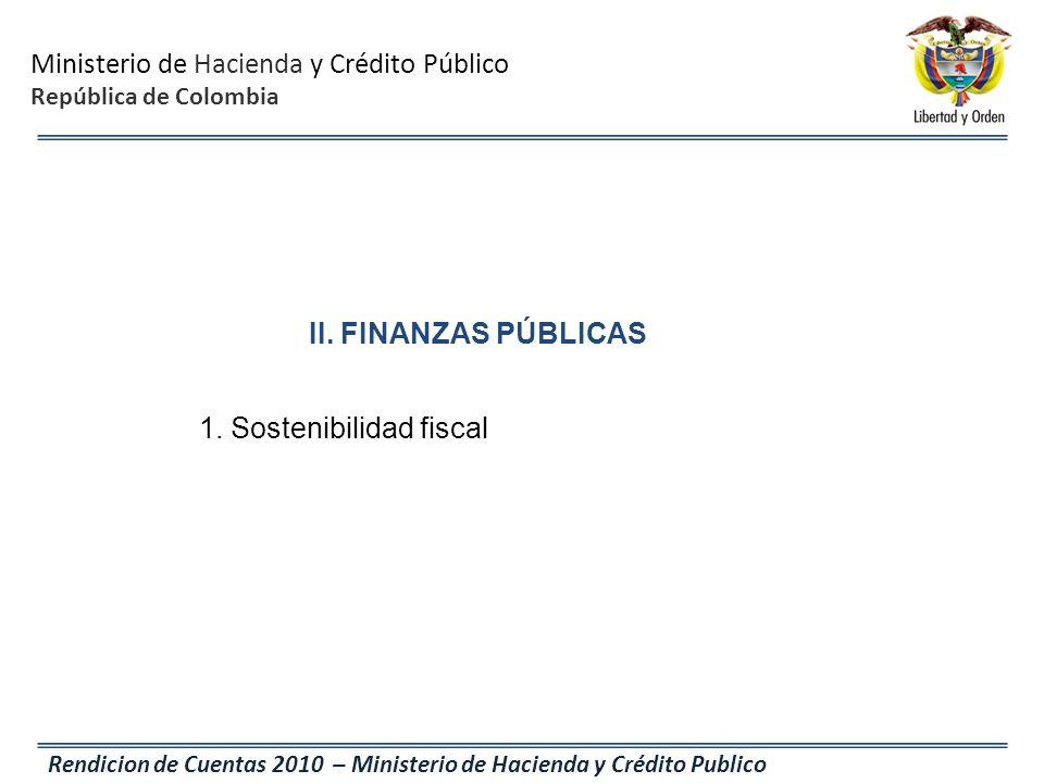 1. Sostenibilidad fiscal