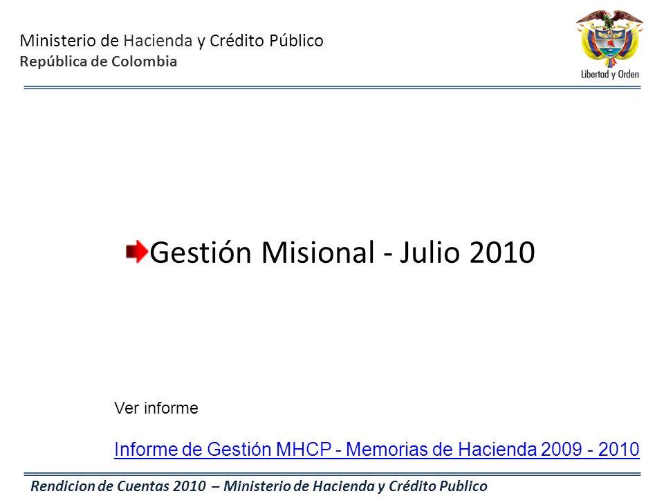 Gestión Misional - Julio 2010