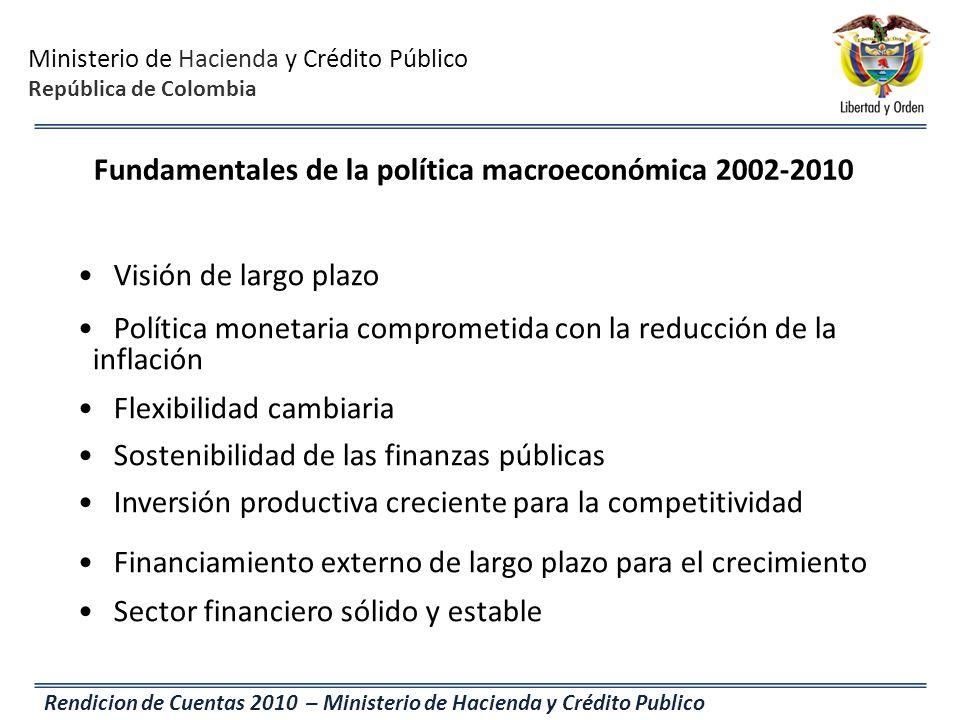 Fundamentales de la política macroeconómica 2002-2010