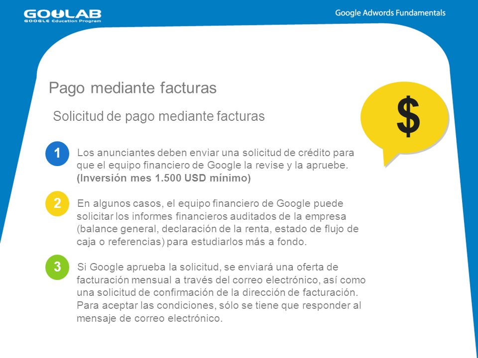 Pago mediante facturas