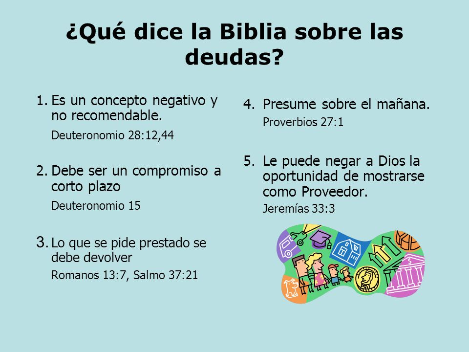 ¿Qué dice la Biblia sobre las deudas