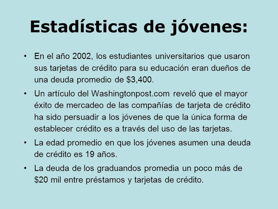 Estadísticas de jóvenes: